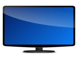 Ein Flachbildfernseher